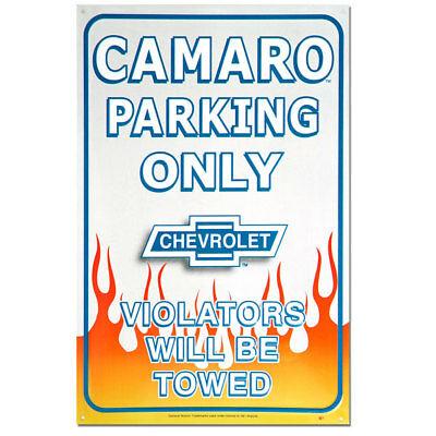 Camaro Parking Only Flames Chevrolet Sign Chevy Garage Decor 11 x 17
