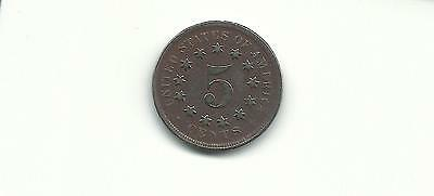 Usa 1867 5 Cents Shield Nickel Coin