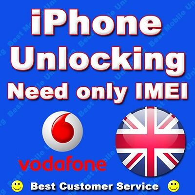Vodafone UK iPhone 7 / 7+ Plus 100% Permanent Factory Unlock Clean IMEI Only