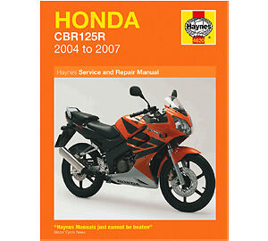 Honda CBR 125 R 2004-2007 Haynes Workshop Service Manual CBR125