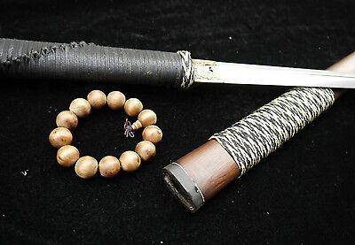 Ancient Chinese sword/full tang/Damascus steel blade/Handmade/Rosewood scabbard