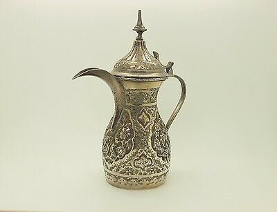 Antique Original Perfect Silver Hand Made  Persian Pitcher