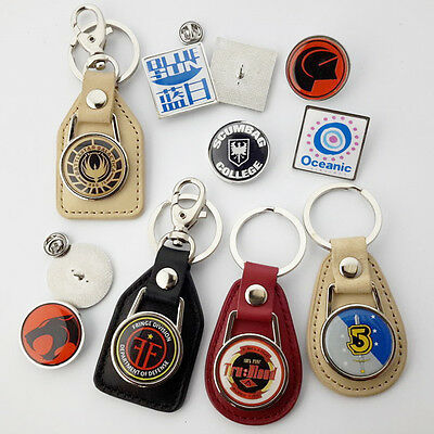 SCIENCE FICTION TV Series LOGO KEYRINGS / TIE PIN BADGES - Large Collection NEW