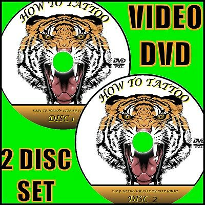 TATTOO CREATION TUTORIAL DVD SIMPLE STEP BY STEP GUIDE EASY TO FOLLOW 2 DVDs NEW