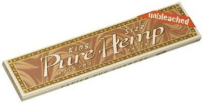 Pure Hemp Unbleached King Size Rolling Papers 5 Packs
