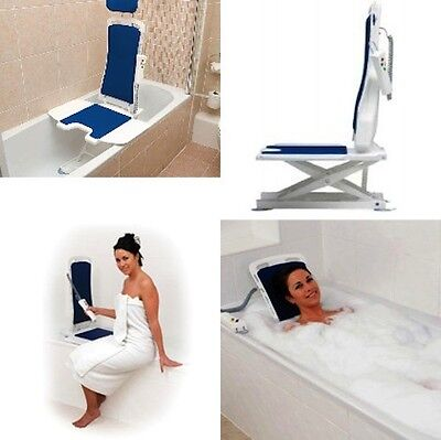 Bellavita Auto Bath Lifter - Tub Lift - White - Tool Free Assembly