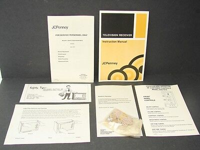 Vintage Black & White Television Instructions Model 685-1019 and NOS Earphone