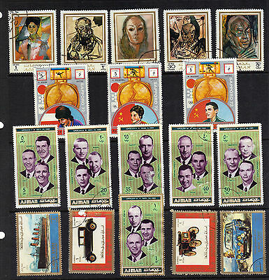 AJMAN Stamp Collection USED Ref:E503