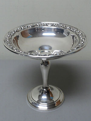 "Vintage Gorham Sterling Silver Small 6"" Compote ""strasbourg"" Pattern #1140"