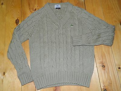 1980's Izod Lacoste Cable Knit Style Sweater Size Medium Made in Taiwan used
