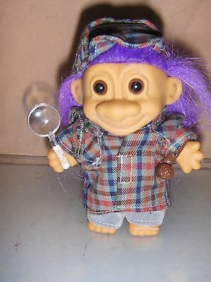 Detective / Sherlock Holmes 5  Inch Troll  Doll - Mint Condition - New Russ