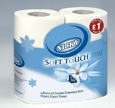 NICKY SOFT TOUCH TOILET TISSUE 10x 4's