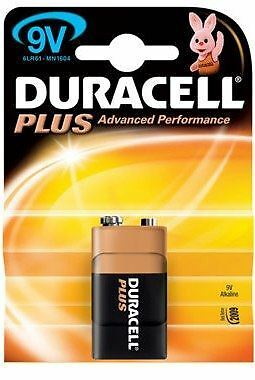 DURACELL PLUS 9 VOLT BATTERY (10batteries)