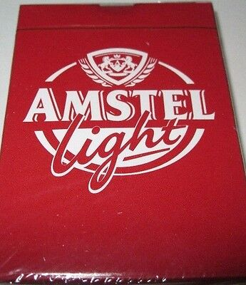 Playing Cards Four Packs  Amstel Light Beer Sealed Free Shipping  NIP