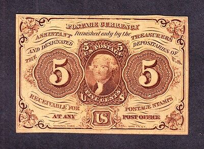 """US 5c Fractional Currency Note 1st Issue w/ """"ABC"""" FR 1230 CU -002"""