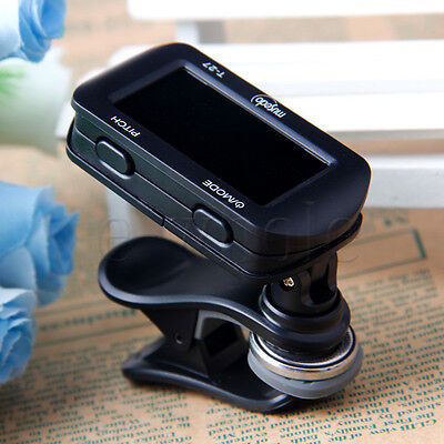 LCD Clip-on T-27 Clip Style Auto Chromatic Guitar Bass Violin Ukulele Tuner HOT