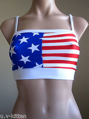 Schminke: stars & stripes flag bra top America Americana USA U.S