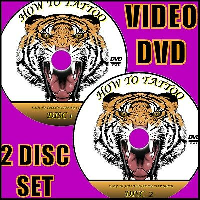 Learn How To Tattoo Step By Step Dvd Guide Easy To Follow Tattooing Lesson 2 Dvd