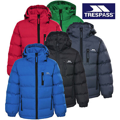 Trespass Tuff Boys Puffa Jacket Padded School Coat Childs Childrens 2-12 Years