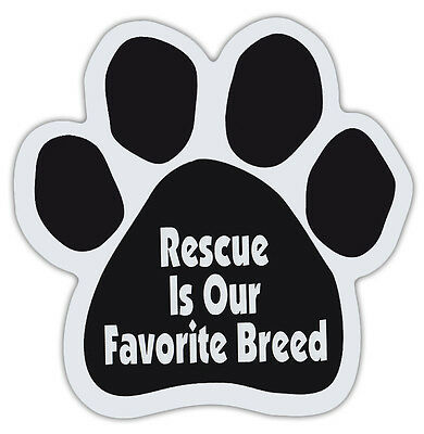 Dog Paw Shaped Magnets: RESCUE IS OUR FAVORITE BREED | Dogs, Gifts, Cars, Trucks