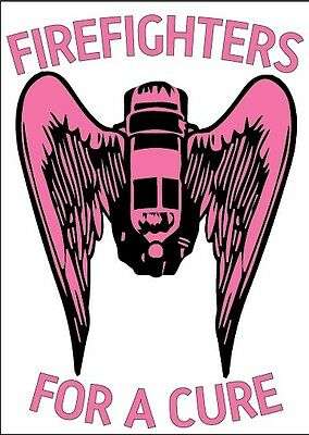 FIREFIGHTER HELMET DECALS - Breast Cancer Firefighters Angel Pink reflective