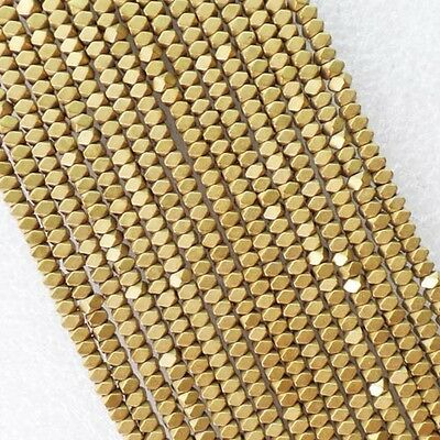 W4180 Excellent Faceted Gold Hematite loose bead 15.5 inch