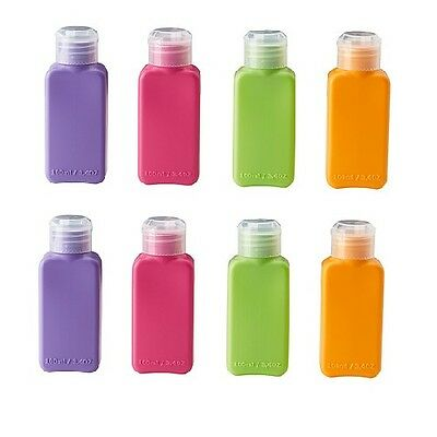 8 x IKEA travel plastic bottle 100ml shampoo conditioner body hand wash liquid