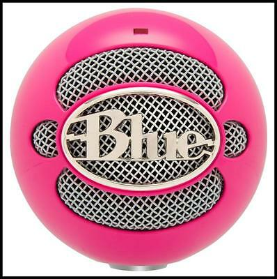 Blue Microphones Snowball USB Podcast / Record Vocal Microphone Hot Pink
