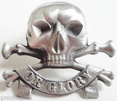 Pirate Skull and Crossbones Pin Badge - Hand Made in English Pewter