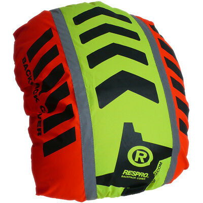 Respro Hi-Viz Reflective Hump Backpack Pannier Rucksack Cover Bike Orange/Yellow