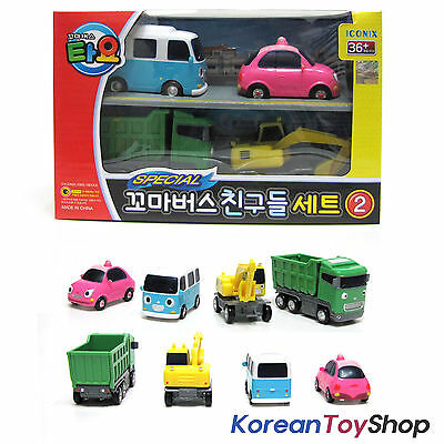 The Little Bus TAYO & Friends 4 pcs Set V.2 Toy Cars Bongbong Heart Max Poco