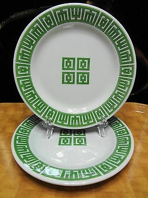 2 Vintage 1970s Sterling China Plates Match with your Tiki Bar's Jade Tile