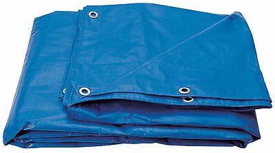 Tarpaulin Waterproof Ground Sheet Lightweight Camping Boat Cover Blue