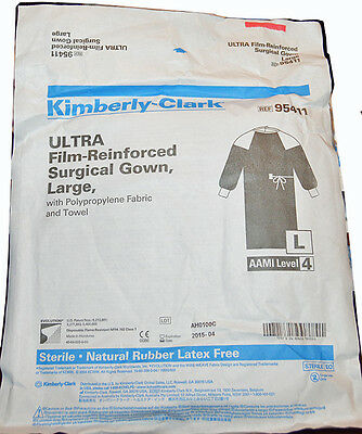Kimberly-Clark 95411 ULTRA Film-Reinforced Surgical Gown- LARGE, Sterile AAMI 4