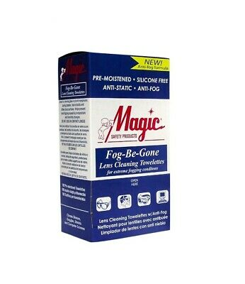 New Magic Safety Lense Cleaning Towelettes Anti-Fog Box of 100 (5 Bxs) MS93160