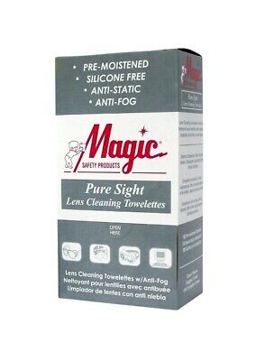 Magic Pure Sight Lens Cleaning Towelettes 100/Box (5 Boxes) - MS93165