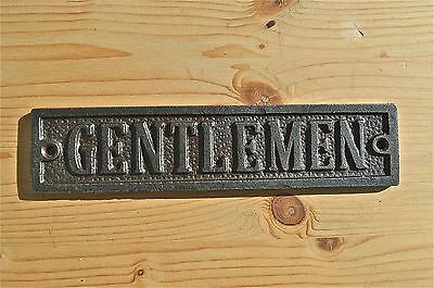 Solid Antique Style Cast Iron Gentlemen Door Sign Toilet Door Plaque Wh24