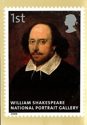 (34922) Postcard - William Shakespeare - National Portrait Gallery painting