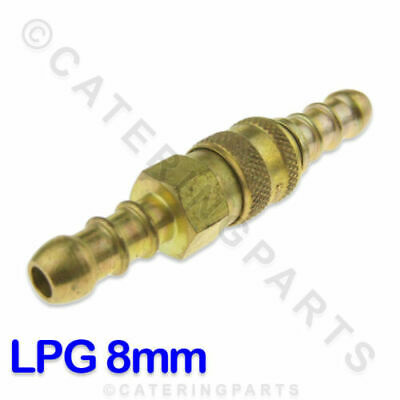 Lp Lpg Propane Quick Release Coupling For Joining 8Mm Bore Orange Gas Hose