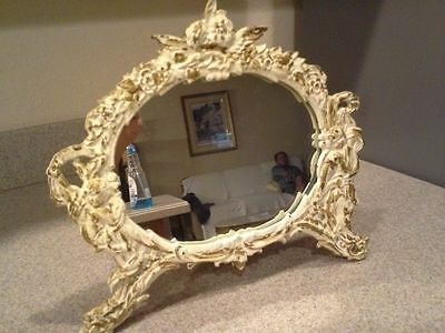 ANTIQUE NB & IW (NATIONAL BRASS & IRON WORKS) CAST FRAME MIRROR, Easel
