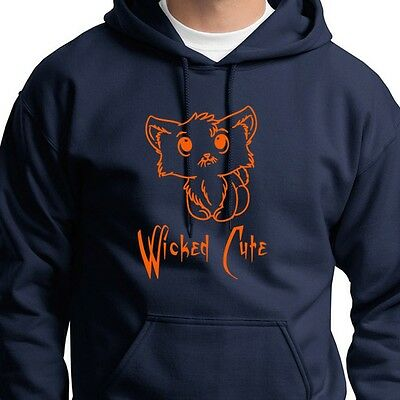 Wicked Cute Halloween Kitten T-shirt Fast Easy Cat Tee Costume Hoodie Sweatshirt
