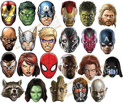OFFICIAL Marvel Super Hero Card Party Face Masks Mask The Avengers HUGE CHOICE!