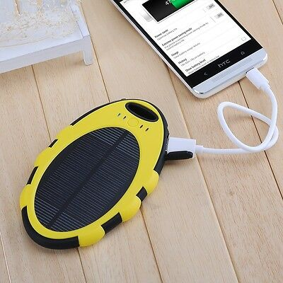Hot 5000mAh Waterproof Dual USB Solar Panel Charger for iPhone 6 5S 5 5C 4S 4 3