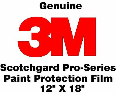 "Genuine 3M Scotchgard Pro Series Paint Protection Film Clear Bra Roll 12"" x 18"""