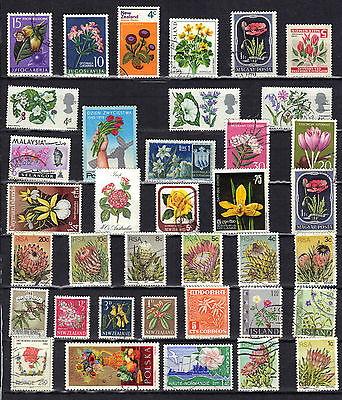 FLOWERS Thematic STAMP Collection Mint Used REF:E382