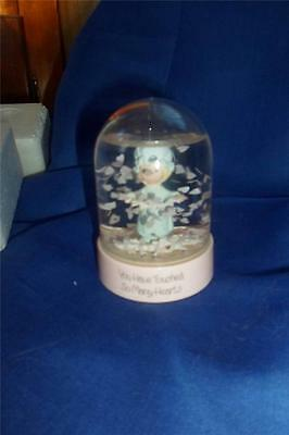 Precious Moments/Enesco WATER GLOBE/FLOWER DOME-YOU HAVE TOUCHED SO MANY HEARTS