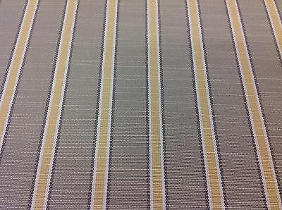 Clarence House Outdoor Upholstery Fabric Sans Souci Stripe/Yellow (34753-2) 7.1Y