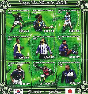 Mozambique 2001 Stamp,MOZ0198 World Cup 2002 Football Sport 23