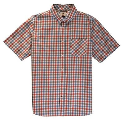 Fourstar Guy Mariano short-sleeved checked white Men's shirt -M (factory second)