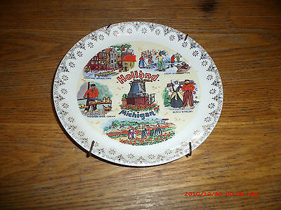 HOLLAND MICHIGAN COLLECTOR PLATE WITH HANGER ON BACK